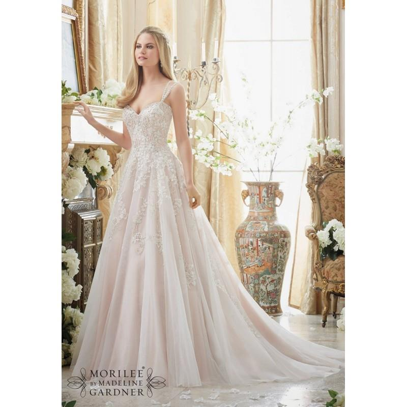 My Stuff, Mori Lee 2881 Wedding Dress - Mori Lee Wedding A Line Sleeveless, Sweetheart Long Dress -