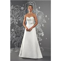Kayleigh by Romantica of Devon - Satin Floor Sweetheart  Strapless A-Line Wedding Dresses - Bridesma