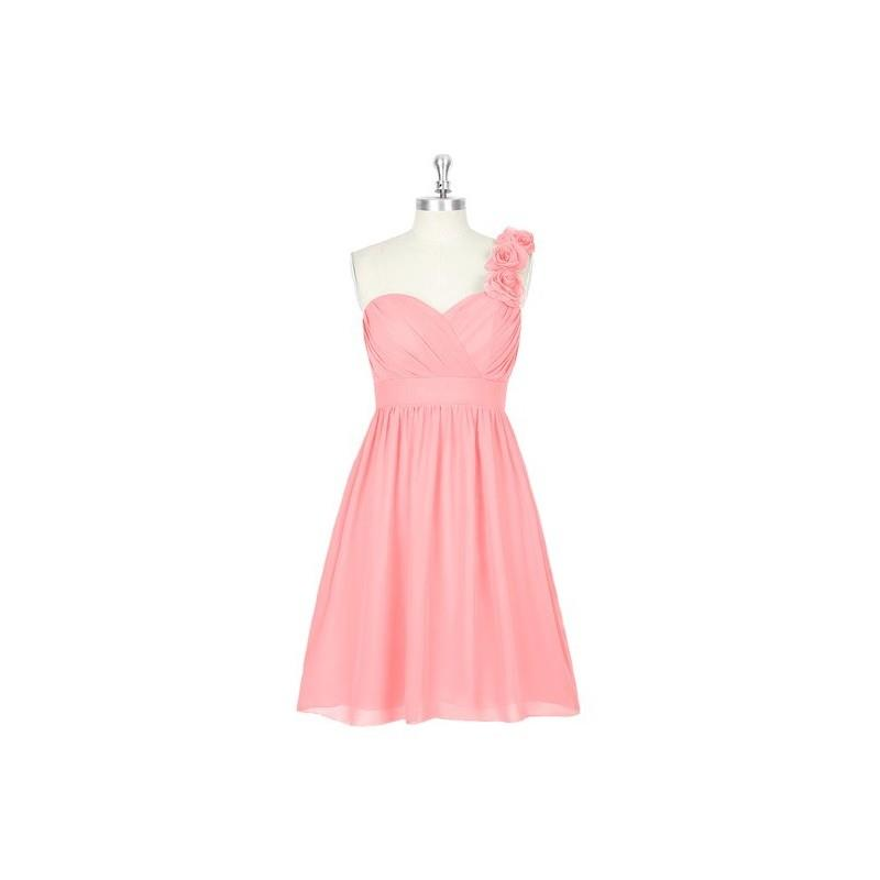 My Stuff, Flamingo Azazie Alyssa - Sweetheart Knee Length Strap Detail Chiffon Dress - Charming Brid