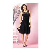 After Six Lace and Satin Short Bridesmaid Dress 6631 by Dessy - Brand Prom Dresses|Beaded Evening Dr