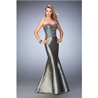 GiGi - 22721 Strapless Metallic Taffeta Mermaid Gown - Designer Party Dress & Formal Gown