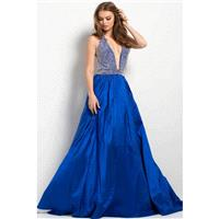 Jovani - 45031 Crystal Crusted Plunging Gown - Designer Party Dress & Formal Gown