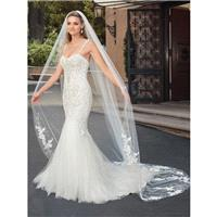 Casablanca Bridal 2018 2320 Paige Ivory Elegant Chapel Train Sleeveless Mermaid Spaghetti Straps Lac