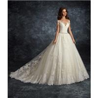 Ira Koval 2017 605 Ivory Chapel Train Sweet Ball Gown Short Sleeves Illusion Lace Appliques Covered