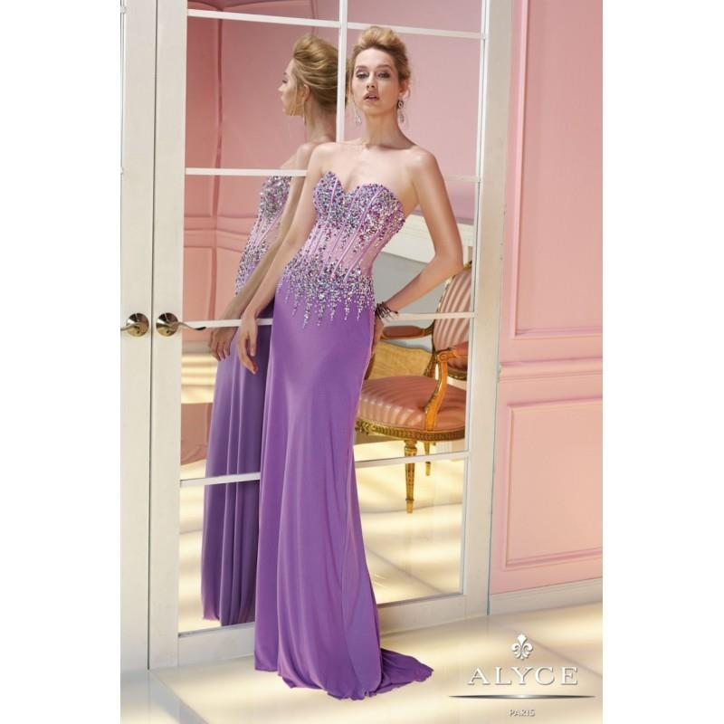 wedding, Alyce Paris Sheer Corset Style Prom Dress 6232 - Crazy Sale Bridal Dresses|Special Wedding
