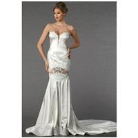 Pnina Tornai for Kleinfeld 4367 - Sheath Sweetheart Natural Floor Chapel Satin - Formal Bridesmaid D