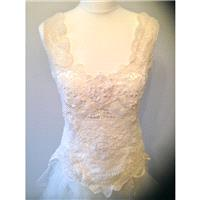Boho lace wedding dress, alternative vintage lace - Hand-made Beautiful Dresses|Unique Design Clothi