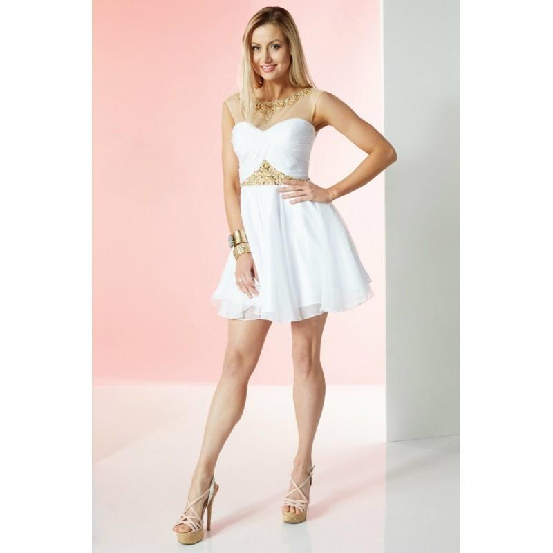 My Stuff, Alyce Paris - 1065 Dress In White - Designer Party Dress & Formal Gown