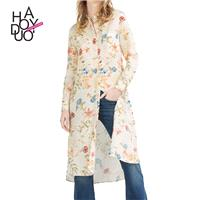 Vogue Printed Floral Fall 9/10 Sleeves Dress - Bonny YZOZO Boutique Store