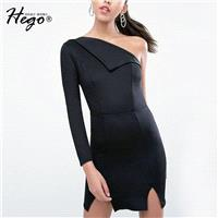 Vogue Sexy Split Asymmetrical One-Shoulder Off-the-Shoulder Winter Formal Wear Dress - Bonny YZOZO B