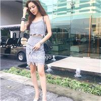 2017 autumn lace suit dress female strap blouse + special price spike is not returned - Bonny YZOZO