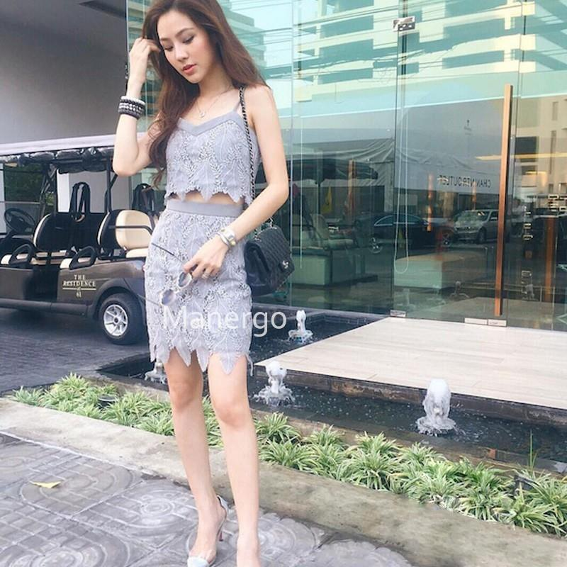 wedding, 2017 autumn lace suit dress female strap blouse + special price spike is not returned - Bon