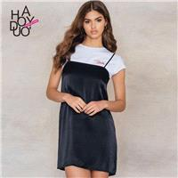 2017 summer New Women's Sweet College Style Casual Halter dress-women - Bonny YZOZO Boutique Store