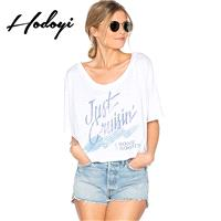 School Style Must-have Oversized Fresh Printed 1/2 Sleeves Alphabet Summer T-shirt - Bonny YZOZO Bou