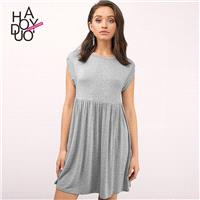 Must-have Oversized Vogue Simple Pleated One Color Summer Dress - Bonny YZOZO Boutique Store