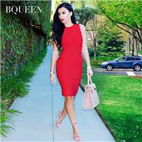 Summer 2017 new sleeveless dresses with sexy pierced l slim bandage dresses H2332 - Bonny YZOZO Bout