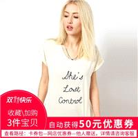 Printed Scoop Neck Alphabet Casual Short Sleeves T-shirt - Bonny YZOZO Boutique Store