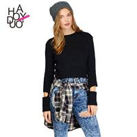 Vogue Hollow Out One Color Fall Sweater - Bonny YZOZO Boutique Store