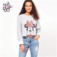 Must-have Vogue Printed Cartoon Summer Casual Hoodie - Bonny YZOZO Boutique Store