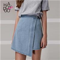 School Style Must-have Sweet Asymmetrical Cowboy Summer Skirt - Bonny YZOZO Boutique Store