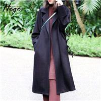British Style Must-have Vogue Attractive Polo Collar Wool Coat - Bonny YZOZO Boutique Store
