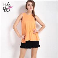 Oversized Vogue Simple Casual Sleeveless Top - Bonny YZOZO Boutique Store