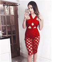2017 summer new products Fashion Sexy Halter off shoulder slim fit Party Dress suit dress - Bonny YZ