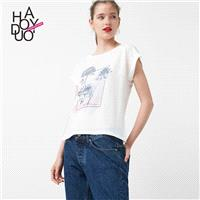 2017 summer dress new fashion sports and leisure dandelion print T-Shirt - Bonny YZOZO Boutique Stor