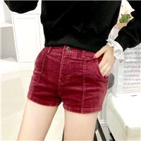Vintage Student Style Slimming High Waisted Corduroy Summer Flexible Casual Short - Bonny YZOZO Bout