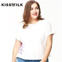 Plus Size women's 2017 summer new tops T-Shirt animal pattern printing loose T-Shirt female - Bonny