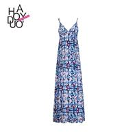 Sweet Bohemia Printed Zipper Up Floral Summer Dress - Bonny YZOZO Boutique Store