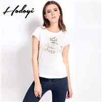 Summer Street fashion abstract pattern printing printing t simple white round neck short sleeve t-sh