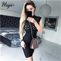Night Club Sexy Seen Through Slimming Summer Flexible Formal Wear Dress - Bonny YZOZO Boutique Store
